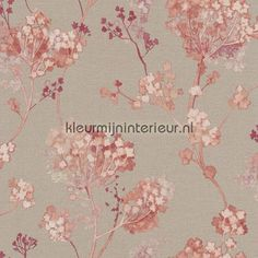 Planten aquarel rose behang 449273, Florentine van Rasch