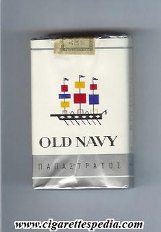 Vintage cigarettes, design logo, ship, vessel - Old Navy 1 Retro Ads, Vintage Ads, Old Advertisements, Advertising, Sweet Memories, Childhood Memories, Cigarette Box, Brand Packaging, Good Old