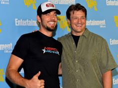 Nathan Fillion and  Zachary Levi....I can't believe one of these guys waited on me and the fam at country cafe back in the day.