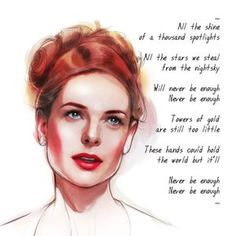 Rebecca Ferguson as Jenny Lind by adipatijulian on DeviantArt Song Quotes, Movie Quotes, Funny Quotes, Disney Star Wars, Narnia, Rebecca Ferguson, The Greatest Showman, Mamma Mia, Disney Quotes