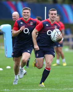 Owen Farrell and George ford England Rugby Team, South Africa Rugby, Hot Rugby Players, English Rugby, Australian Football, Rugby Men, Beefy Men, Rugby World Cup, Rugby League