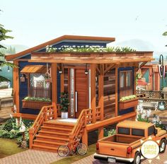 Sims 4 House Plans, Sims 4 House Building, Sims 4 House Design, Casas The Sims 4, Sims Four, Model House Plan, Sims 4 Build, Sims 4 Houses, Cute House