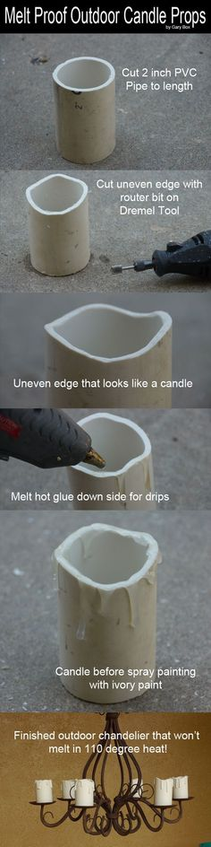 No melt Candle Props- Easy & neat