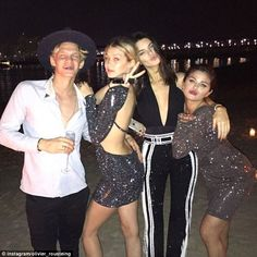 Balmain beach party: The couple spent New Year's Eve together in Dubai with Selena Gomez and Kendall Jenner at a beach bash thrown by fashion house Balmain