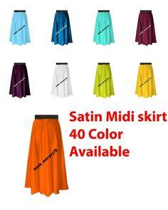 Satin Midi Skirt Casual/Party Wear Belly Dance Sexy Perry Skirt Plus Size Midi Skirt Casual, Sexy Skirt, Casual Skirts, Long Maxi Skirts, Short Skirts, Belly Dance Skirt, Satin Midi Skirt, Types Of Skirts, Gypsy Skirt