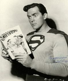 "Kirk Alyn stars as Superman in Republic Serials  ""Superman"" in 1948 and ""Atom Man vs Superman"" 1950."