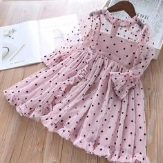Only Today Baby girl dress Autumn Mesh Dots Long Sleeve Children Princess Dress Casual Elegant Kids Dress Baby Special Edition! Girls Frock Design, Kids Frocks Design, Baby Frocks Designs, Baby Girl Party Dresses, Toddler Girl Dresses, Baby Dress, Girls Dresses, Toddler Girls, Dresses For Toddlers