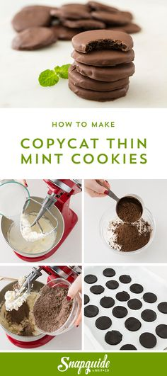 Save this easy copycat dessert recipe to learn how to make Thin Mint Cookies. YUM.