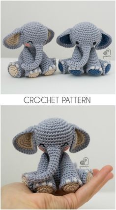 The Sweetest Crochet Elephant Patterns To Try You'll love our Elephant Crochet Post that includes Elephant Crochet Rug, Elephant Crochet Pillow, Elephant Crochet Blanket and Elephant Crochet Amigurumi Crochet Elephant Pattern Free, Crochet Bird Patterns, Crochet Amigurumi Free Patterns, Crochet Birds, Cute Crochet, Crochet Animals, Crochet Crafts, Crochet Projects, Mandala Crochet