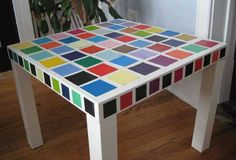DIY Paint Chip Table