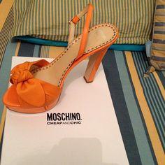 Photo by ludo2641 #moschino #mymoschino #orange #shoes