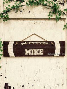 Reclaimed Pallet Football 21 Wall Hanger Sign by DistinctDoorDecor