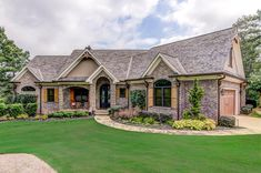 Gorgeous French Country House Plan with Bonus Room and Screen Porch - - House Plans, Home Plan Designs, Floor Plans and Blueprints French Country House Plans, French Country Kitchens, French Country Bedrooms, French Country Cottage, Country Style Homes, French Country Style, French Country Decorating, French Country Exterior, Country Houses