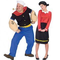 Disfraces para ir en Pareja - Disfraz de Olivia y Popeye.