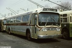 GMC SUBURBAN FISHBOWL. THESE BUSSES WERE STICK SHIFT