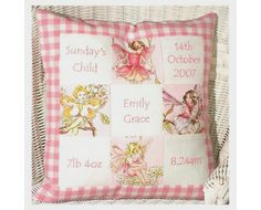 Flower Fairy Memory Cushion by Tuppenny House Designs