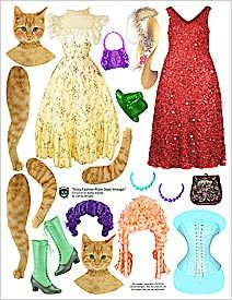 Pretty cool, but hilarious haha Papel Vintage, Vintage Paper Dolls, Paper Puppets, Paper Toys, Printable Images, Paper Art, Paper Crafts, Paper People, Paper Dolls Printable