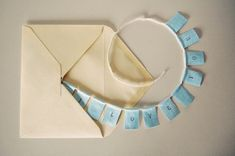 mini message banners - cute idea for a letter for a loved one