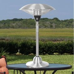Love this Hearth Sense Stainless Metal Tabletop Electrical Halogen Patio Heater