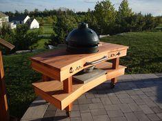 Big Green Egg Table - Cedar III