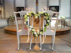 Kirchenschmuck, Herz aus Hortensien für das Brautpaar