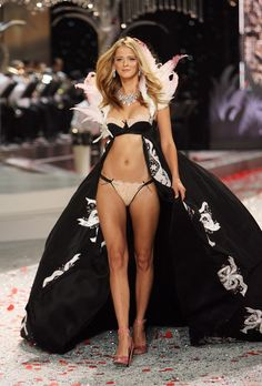 Carmen Kass, in Black Tie Holiday collection of Victoria's Secret 2008