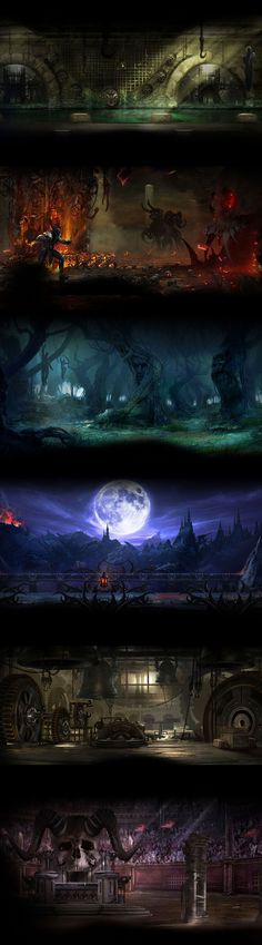 Mortal Kombat 9 - Level Background Art, Stage Fatalities, and Arenas