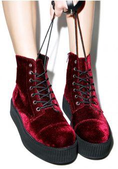 T.U.K. Velvet Creeper Boots,