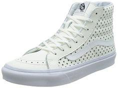 Vans Unisex Sk8Hi Slim Perf Stars True White Skate Shoe 75 Men US  9 Women US ** Want to know more, click on the image.