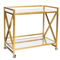 Gold Leafed Bar Cart {obsessed with this}