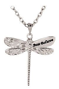 Just Believe Dragonfly Necklace at The Animal Rescue Site-funds 14 bowls of food.  Just $16.95