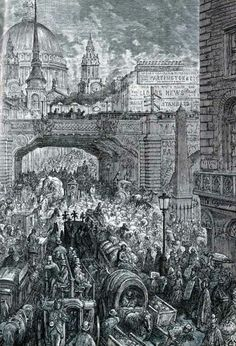 Gustave Doré, Ludgate Circus (London, A Pilgrimage, 1872