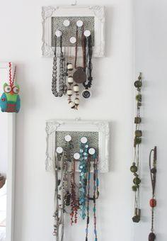 Organising jewellery - necklaces - OrganisingChaosBlog Organising, Jewelry Organization, Wind Chimes, Necklaces, Jewellery, Blog, Jewels, Jewelry Storage, Schmuck