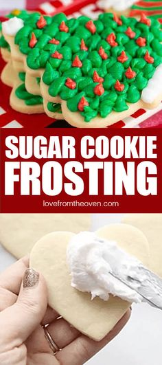 This easy Christmas Cookie Frosting is perfect on sugar cookies and cut out cookies. It doesn't get rock hard, but forms enough of a crust that you can gently stack your cookies. Cut Out Cookie Frosting, Canned Frosting, Frosting Recipes, Easy Christmas Cookies Decorating, Christmas Cookie Icing, Cookie Decorating, Oven Recipes, Dip Recipes, Cookie Recipes