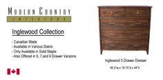 Inglewood 5 drawer dresser