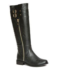 Black Bince Boot #zulilyfinds