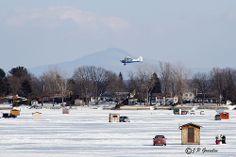 ICE FISHING |  LAKE CHAMPLAIN  |   PHILIPSBURG  | PECHE SUR GLACE   |   BAIE MISSISQUOI BAY  |   QUEBEC  |  CANADA by J.P. Gosselin, via Fli...