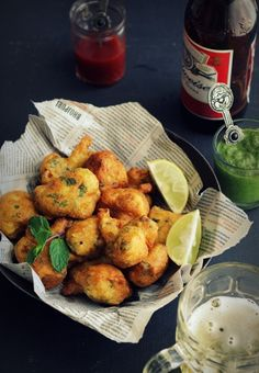 Beer Battered Cauliflower Fritters is the perfect poolside dish.