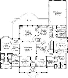 Home Plans HOMEPW17899 - 4,816 Square Feet, 4 Bedroom 4 Bathroom French Country Home with 3 Garage Bays