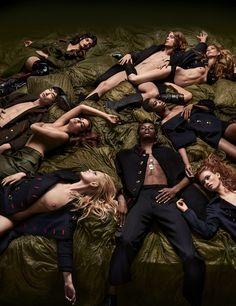 Make Love, Not War: Models Wear Fall 2016's Military Trend Photos   W Magazine