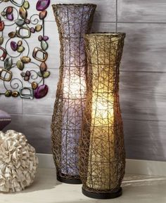 Vase Floor Lamps: Lamp, Sisters Vase Purple from Midnight Velvet® I bought these. Use them as,Lighting