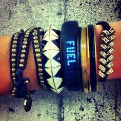 Nike fuel band with regular bracelets