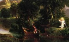 Thomas Cole: The Voyage of Life - Youth. Detail. 1840. Oil on canvas.