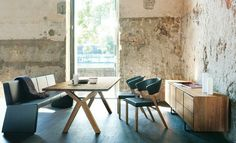 Bench style dining