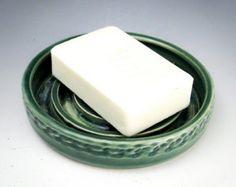 Handmade ceramic soap dish white soap dish by MeganLouiseCeramics