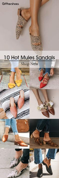 SHOP Hot Stylish Mules Sandals Shoes Picks for Your Daily Outfits.Must Have One! Mule Sandals, Mules Shoes, Shoes Sandals, Heeled Sandals, Stylish Outfits, Fashion Outfits, Flatform, Trendy Fashion, Womens Fashion