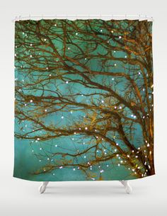 Magical Shower Curtain Bathroom home decor tree- artist has several beautiful curtains.