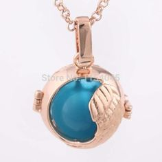 rose gold, silver, and gold plated 3 color deign. pregnant woman's pendant, angel bola, angel ball