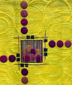 I love circles, stitching, saturated colour, quilts... I love this. S