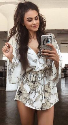 #summer #tigermist #outfits   Little Floral  Playsuit